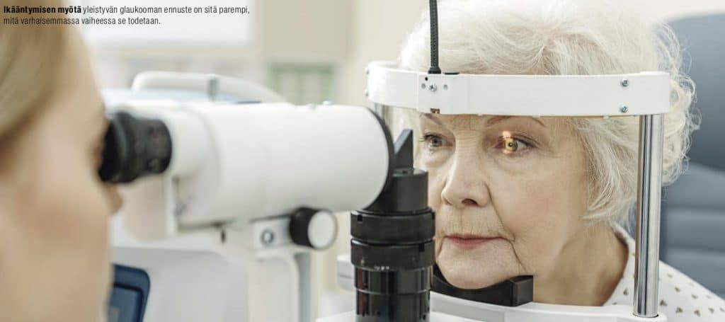 silmänpaineen mittaus